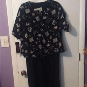 Dresses & Skirts - Long sleeveless black dress with jacket.